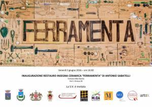 Invito all'inaugurazione fornace Alba Docilia Albissola Marina